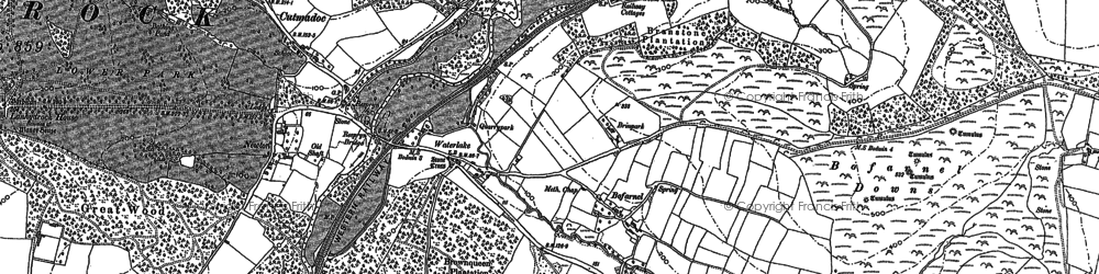 Old map of Newton in 1881