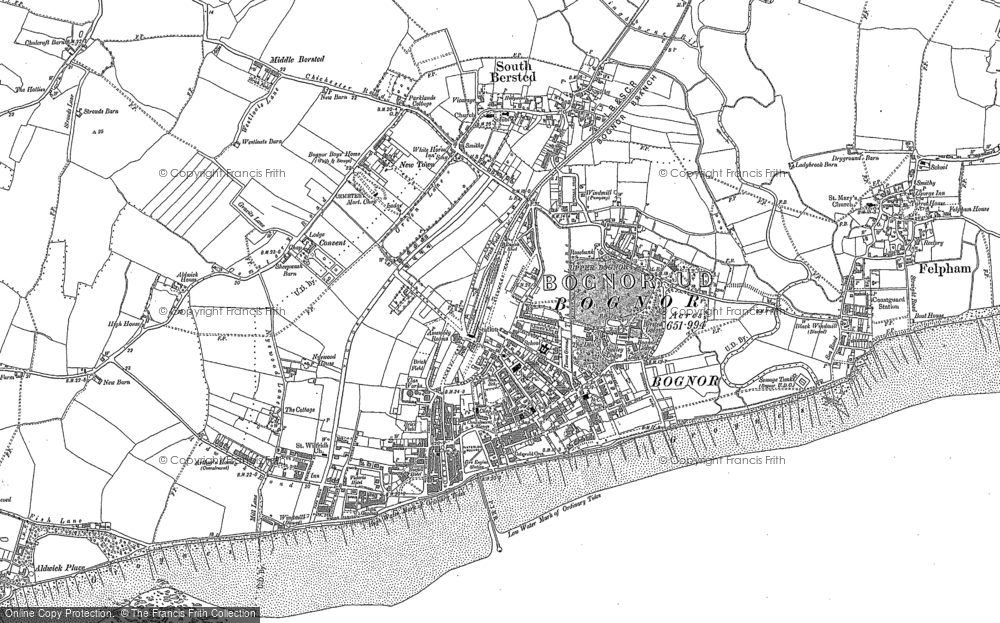 Map of Bognor Regis, 1910