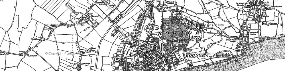 Old map of Bognor Regis in 1910