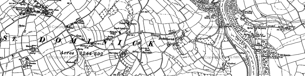 Old map of Bohetherick in 1882