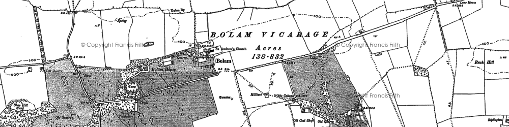 Old map of Toft Hill in 1895