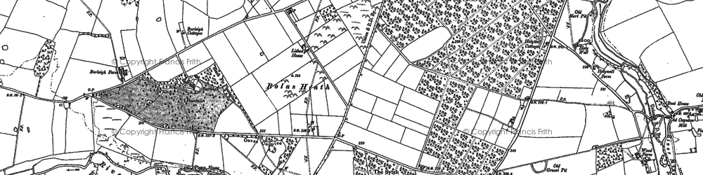 Old map of Allford Brook in 1880