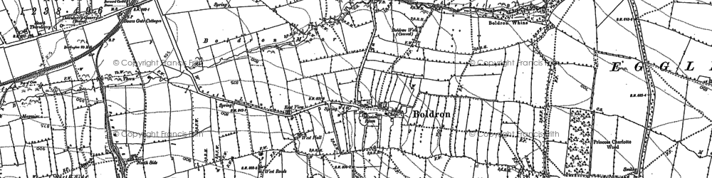 Old map of White Close Hill in 1912