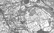 Old Map of Bolehill, 1879 - 1898