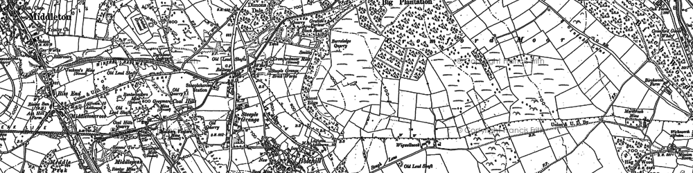 Old map of Little Bolehill in 1879