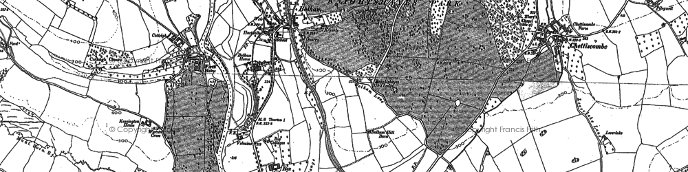 Old map of Worth Ho in 1887