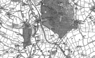Old Map of Bolham, 1887