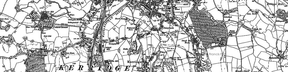 Old map of White Nancy in 1896