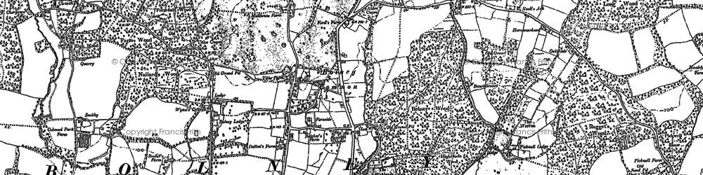 Old map of Wykehurst Park in 1896