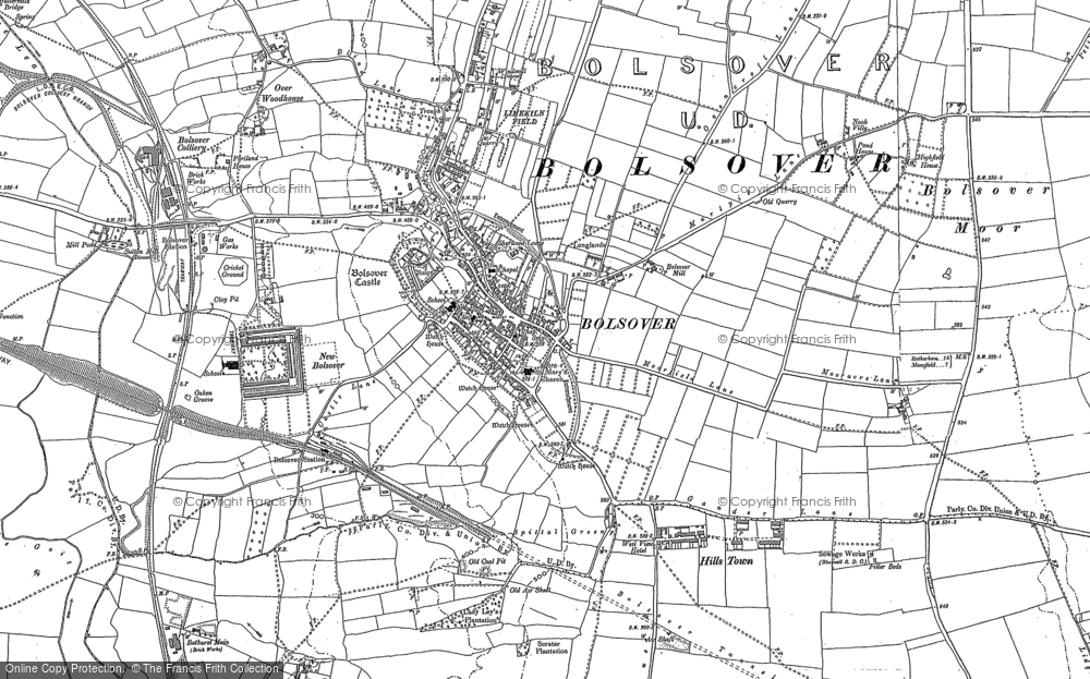 Old Map of Historic Map covering Limekiln Field in 1897