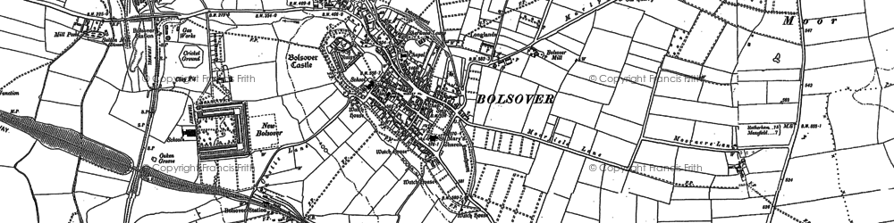 Old map of Bolsover in 1897