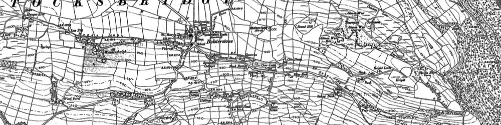 Old map of Bolsterstone in 1891
