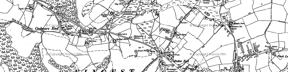 Old map of Bolter End in 1897