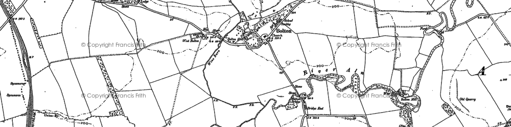 Old map of Titlington Burn in 1896