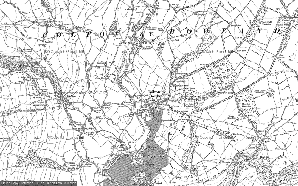 Old Map of Historic Map covering Admiral's Wood in 1893