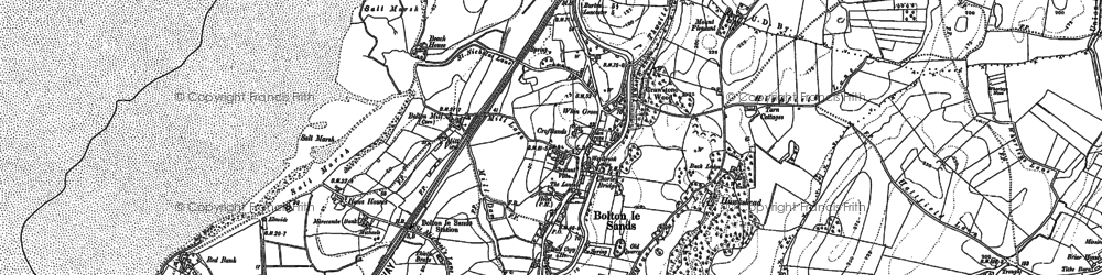 Old map of Bolton-le-Sands in 1889