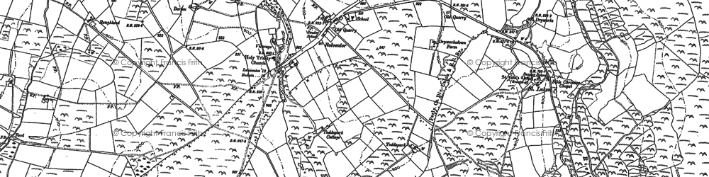 Old map of Bolventor in 1882