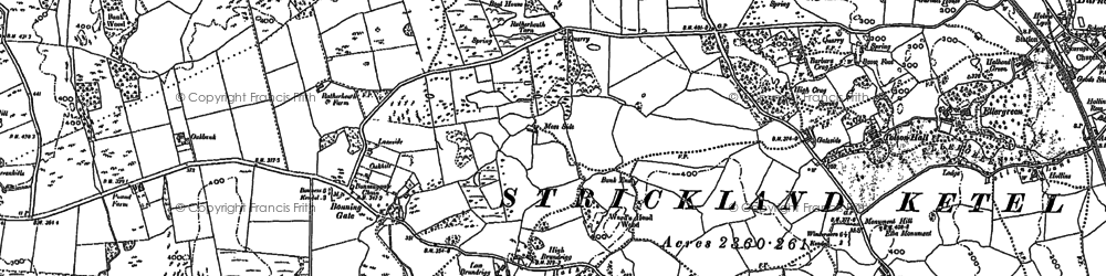 Old map of Ash Spring in 1897