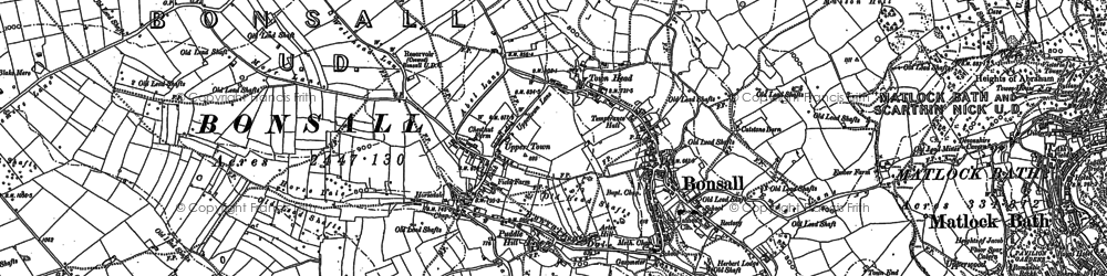 Old map of Bonsall in 1879