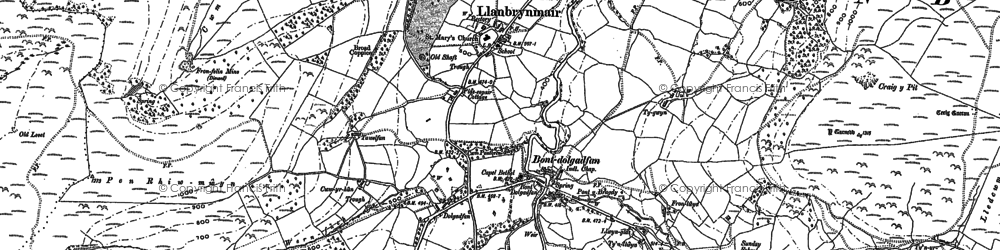 Old map of Banc Bronderwgoed in 1886