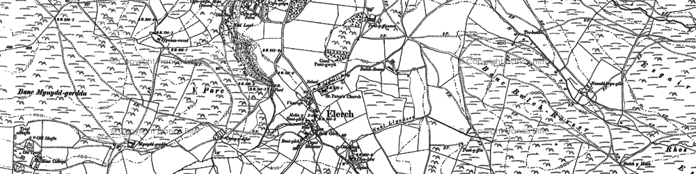 Old map of Alltgochymynydd in 1886