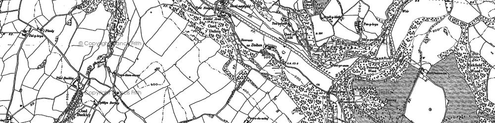 Old map of Graig in 1898