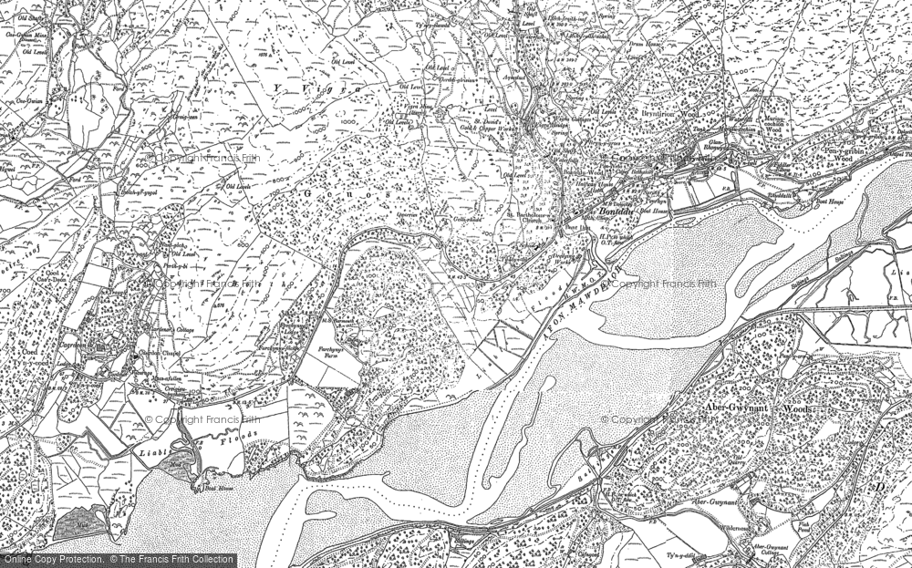 Map of Bontddu, 1887 - 1900
