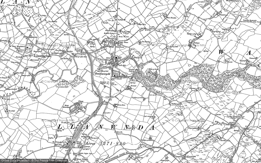 Old Map of Bontnewydd, 1888 - 1899 in 1888