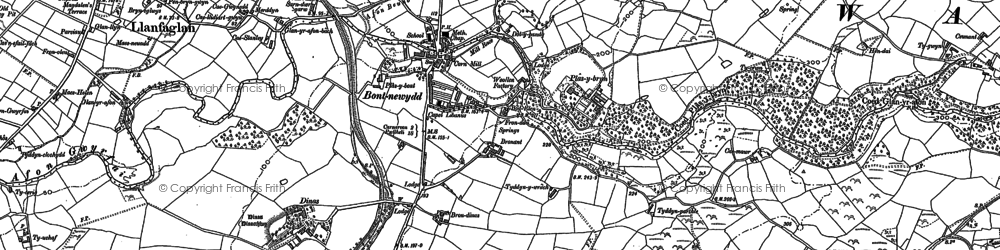 Old map of Bontnewydd in 1888