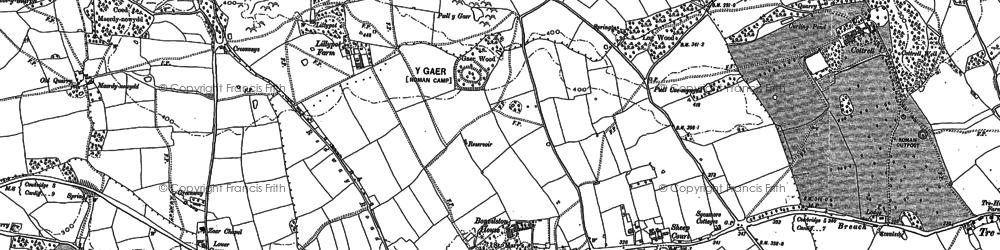 Old map of Bonvilston in 1898