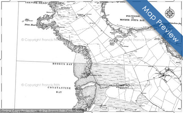 Historic map of Booby's Bay