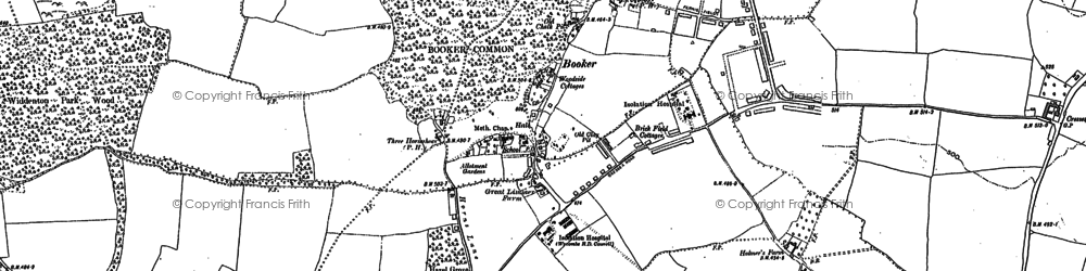 Old map of Wycombe Air Park in 1897