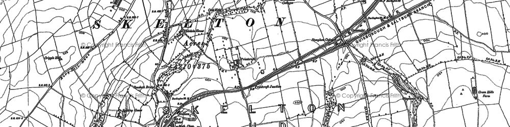 Old map of Boosbeck in 1893