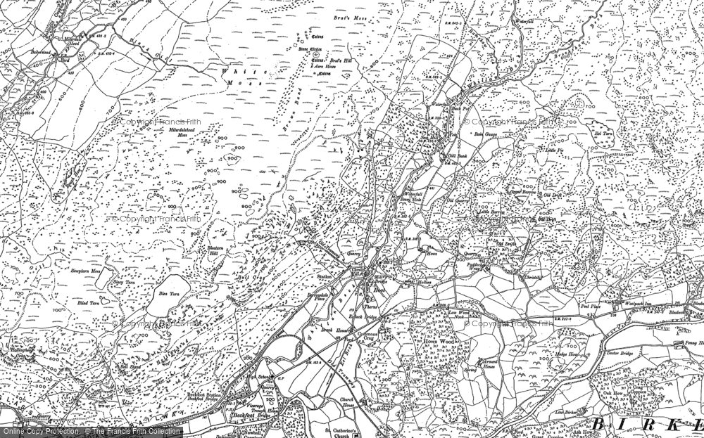 Old Map of Historic Map covering Whincop in 1897