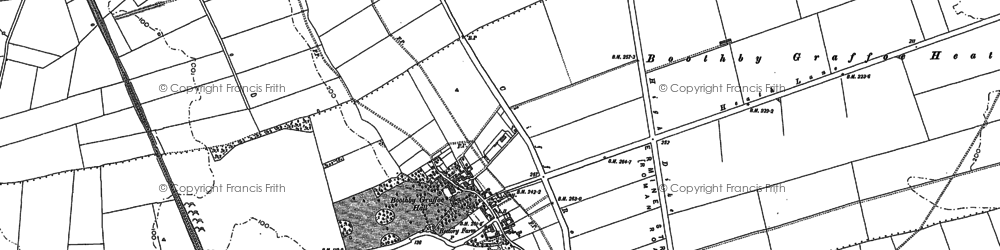 Old map of Boothby Graffoe in 1886