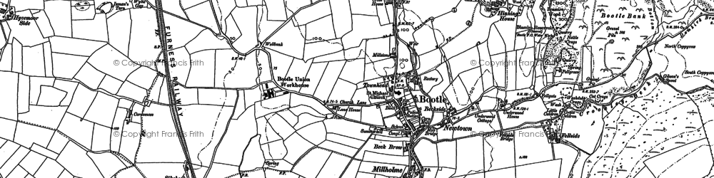 Old map of Bootle in 1897