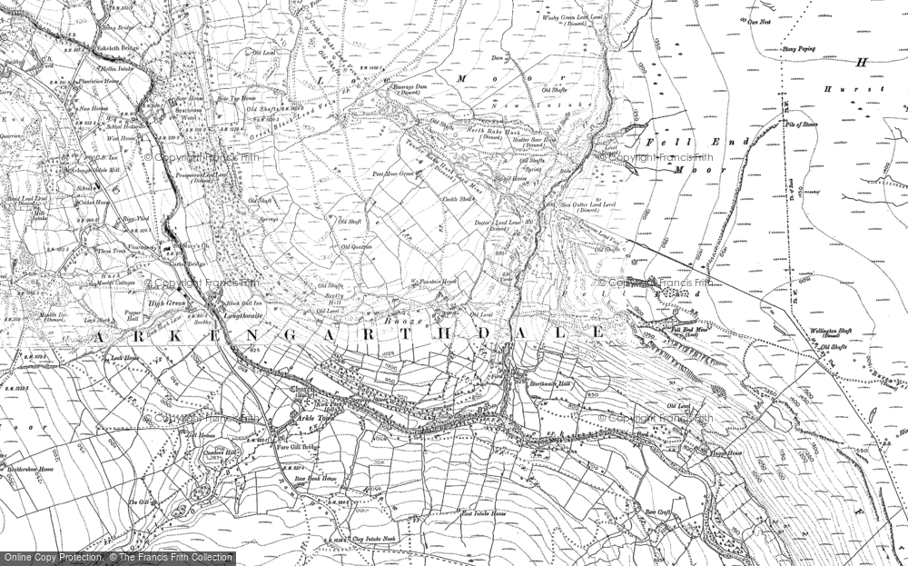 Old Map of Booze, 1891 - 1892 in 1891