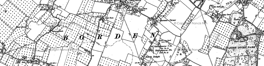 Old map of Borden in 1896