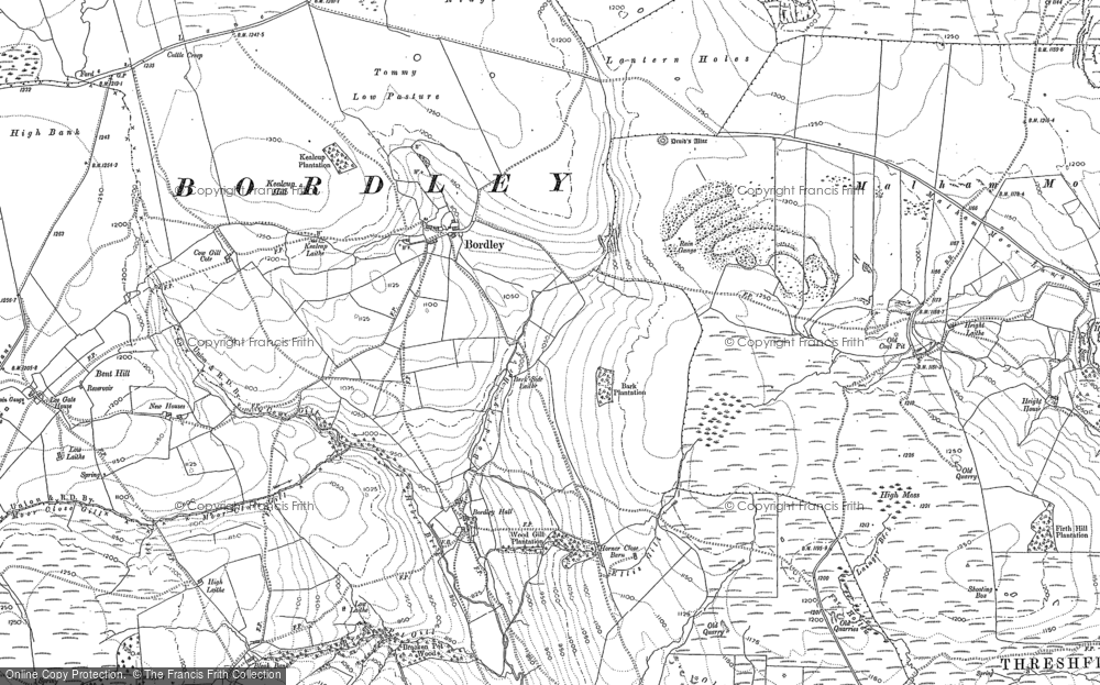 Old Map of Historic Map covering Bark Plantn in 1907