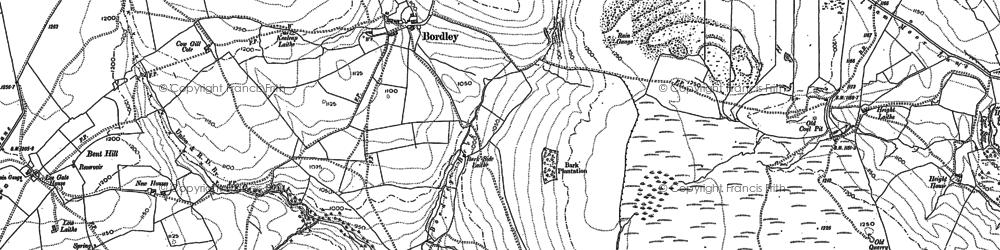 Old map of Winterburn Moor in 1907