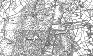 Old Map of Bordon, 1909