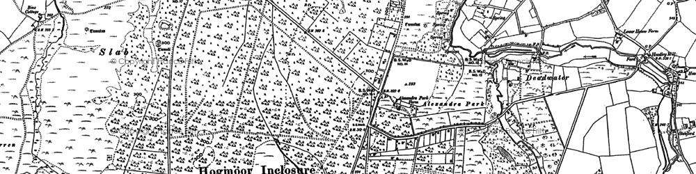 Old map of Bordon in 1909