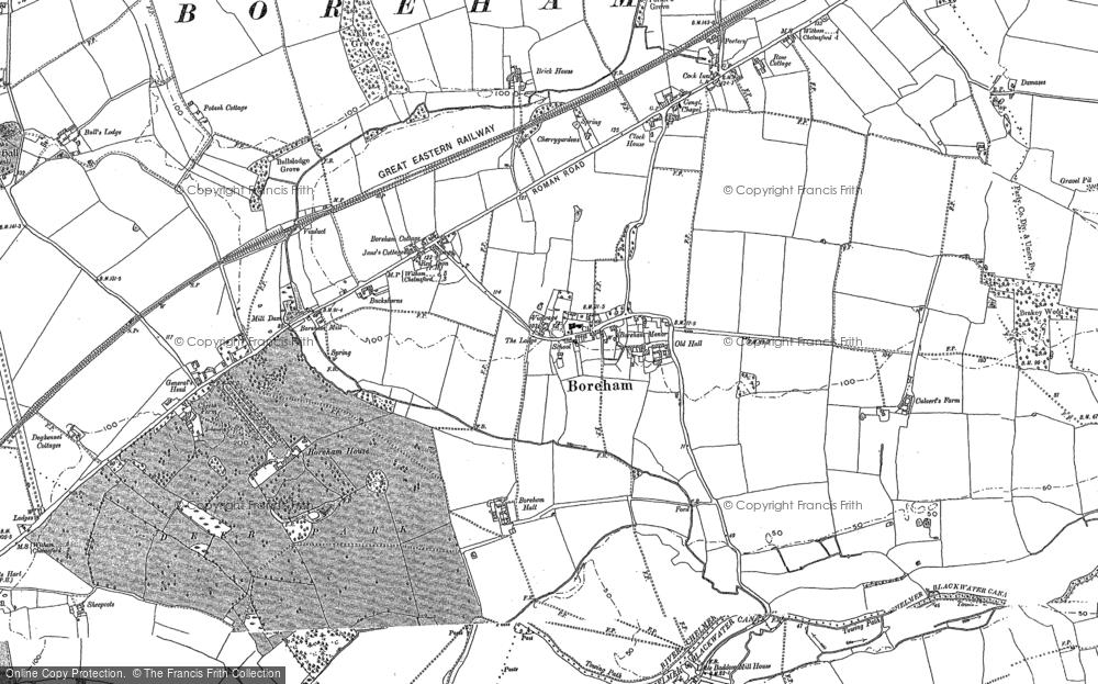 Old Map of Boreham, 1895 in 1895