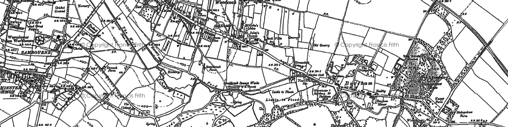 Old map of Woodcock in 1899