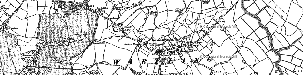Old map of Windmill Hill Place in 1897
