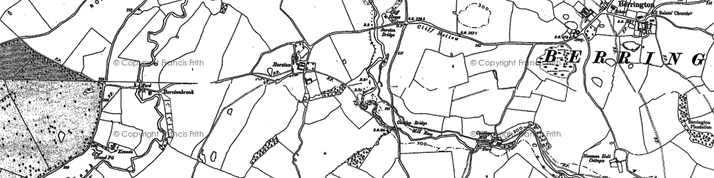 Old map of Allfield in 1881