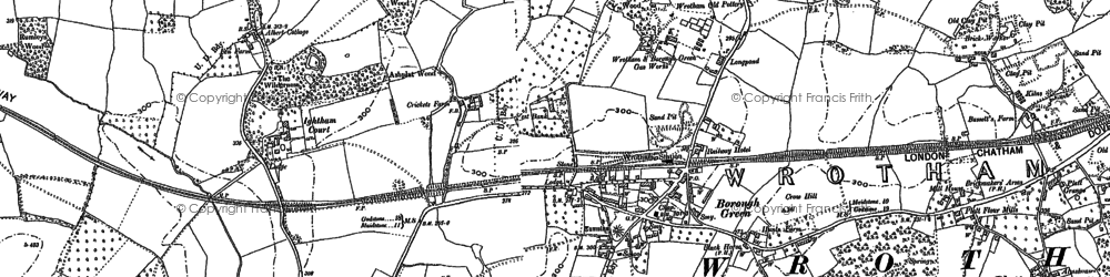 Old map of Borough Green in 1866