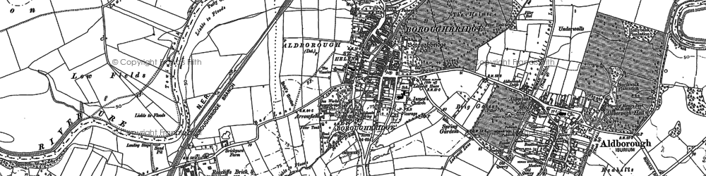 Old map of Boroughbridge in 1889