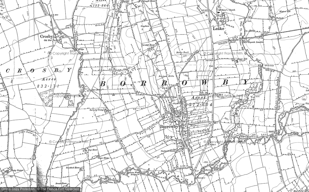 Old Map of Historic Map covering Leake in 1892