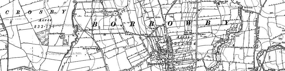 Old map of Leake in 1892